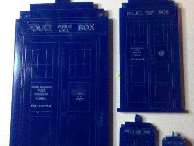 Tardis Xmas Tree Ornament For A Laser Cutter By Tardis In