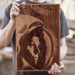 laser cut wood posters