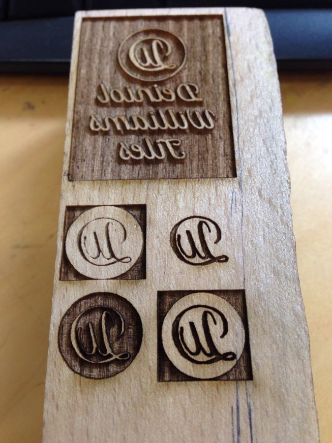 laser etched ceramic stamps