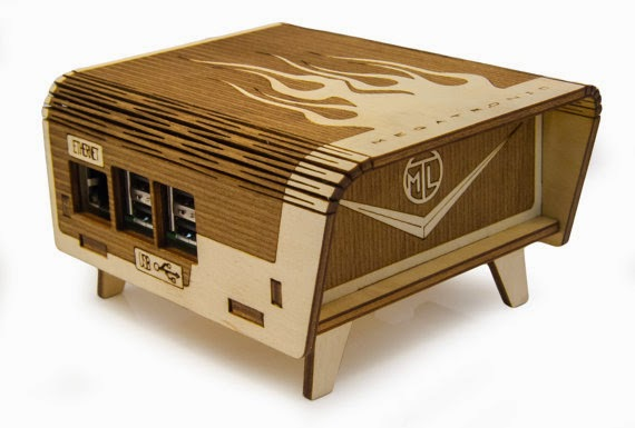 Raspberry Pi Laser Cut Birch Enclosure Laser Cutting
