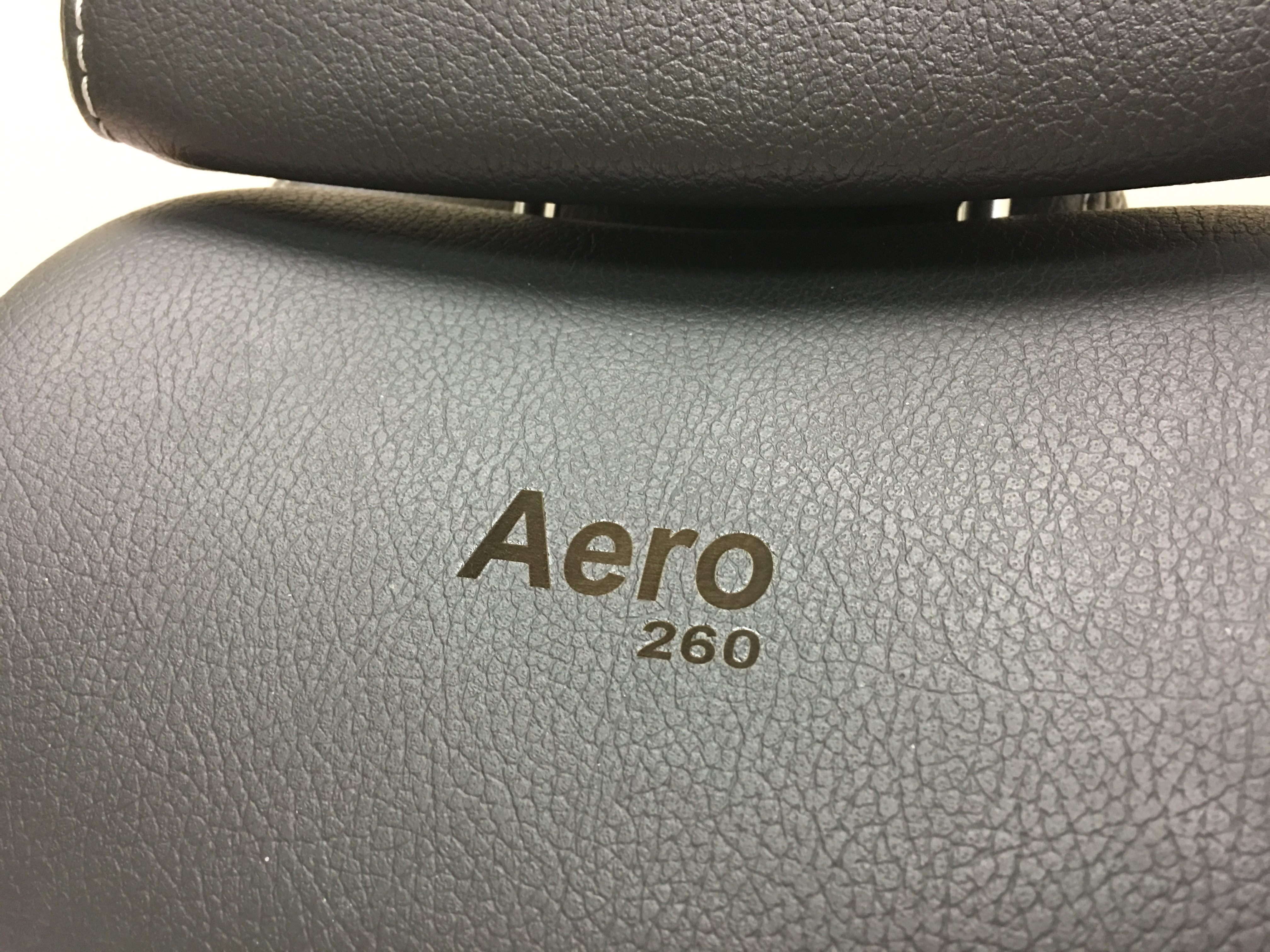 laser engraved leather saab headrests