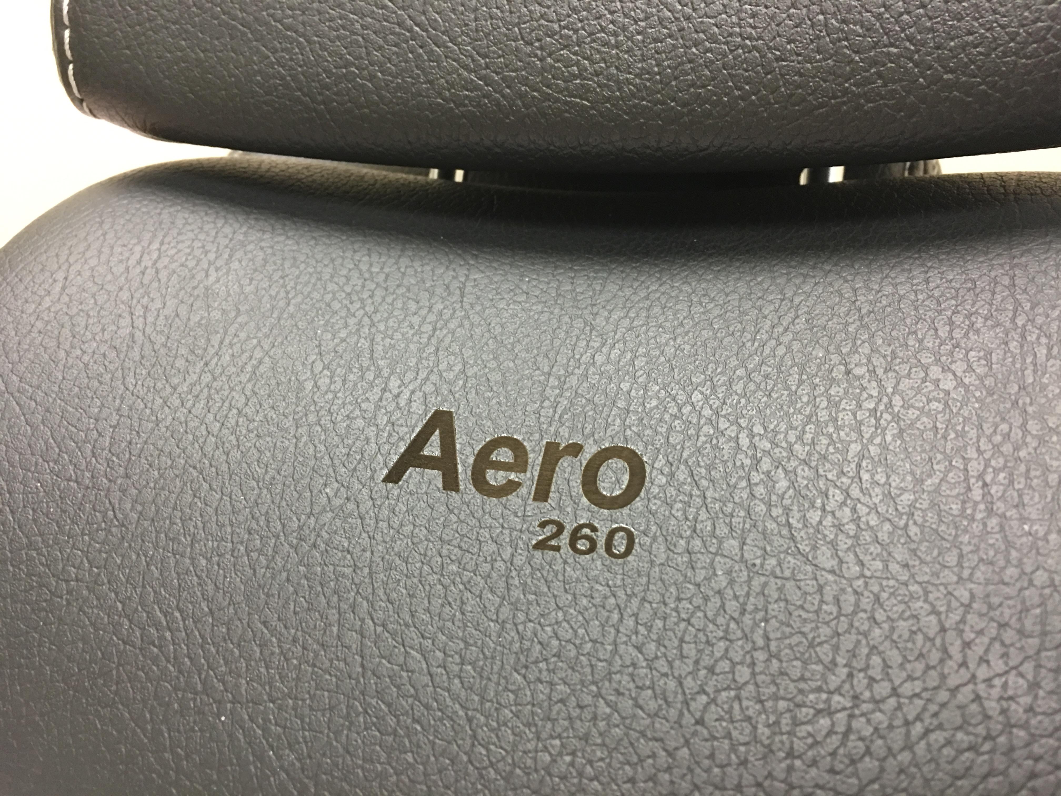laser engraved leather saab headrests