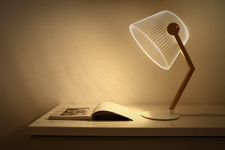 Redesigned 2D Lamps Continue to Mesmerize with 3D Optical Illusions