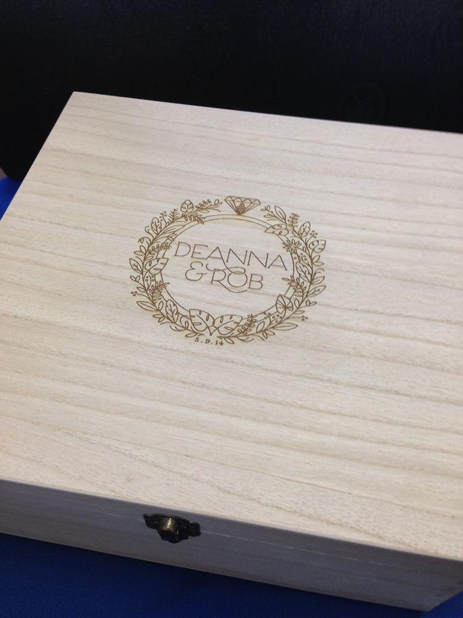 laser engraved wedding box