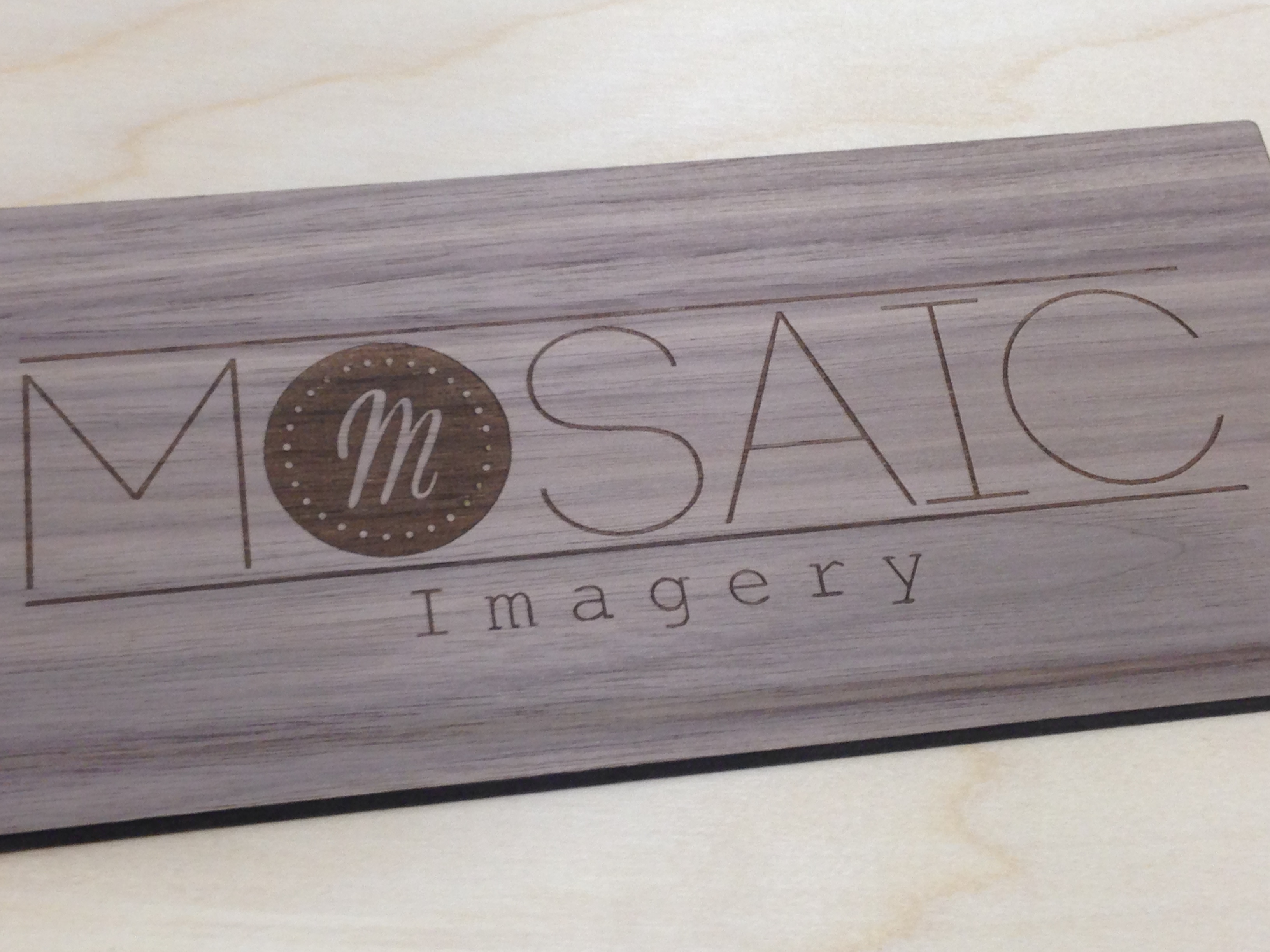 laser engraving wooden sign