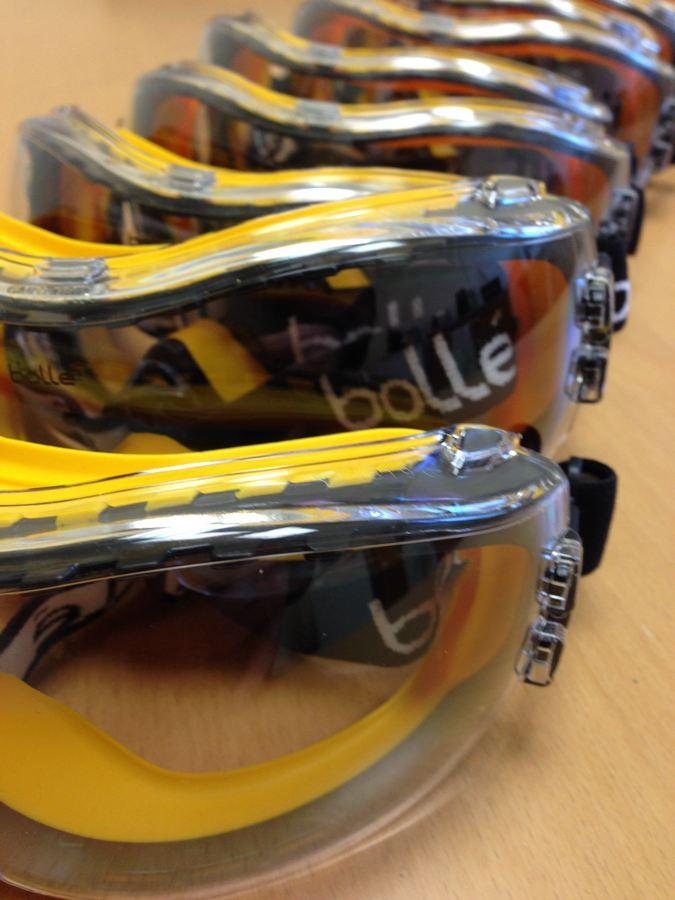 laser coding safety glasses