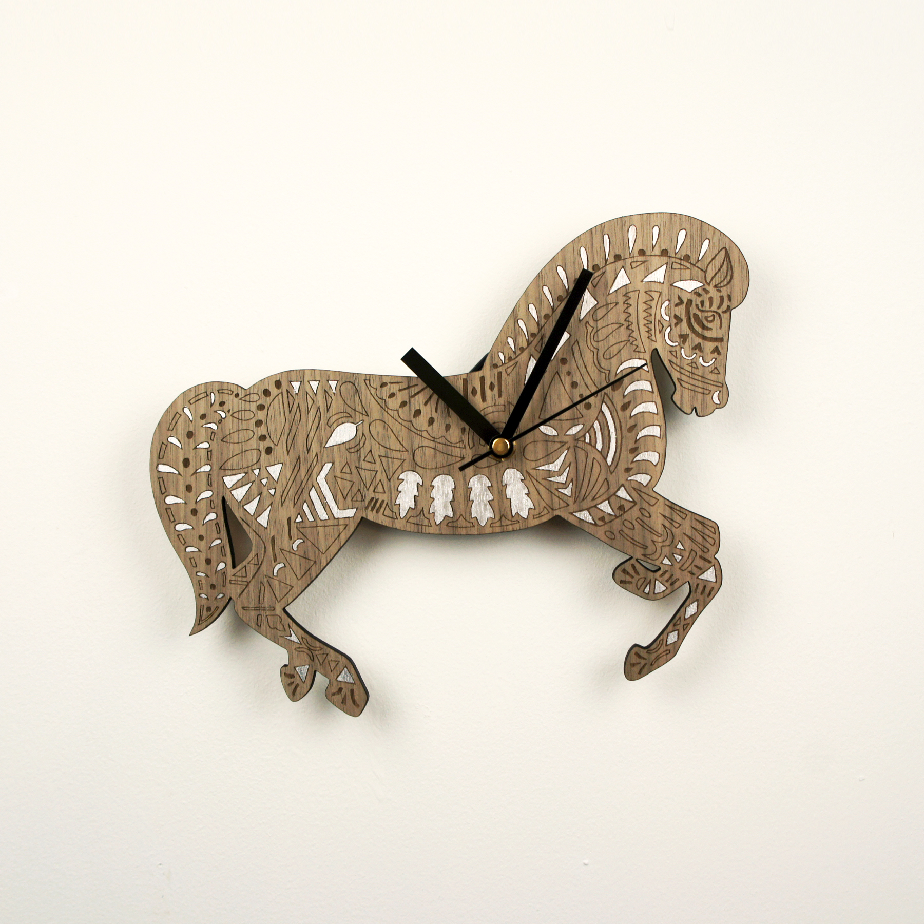 Horse clock by Kirsty Baynham