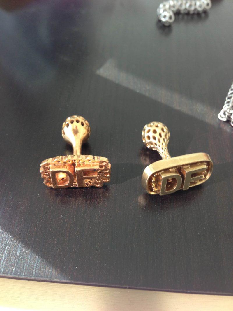 Digital Forming 3D printed cufflinks