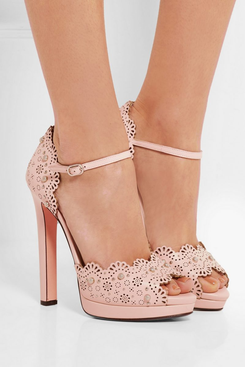laser cut leather shoes