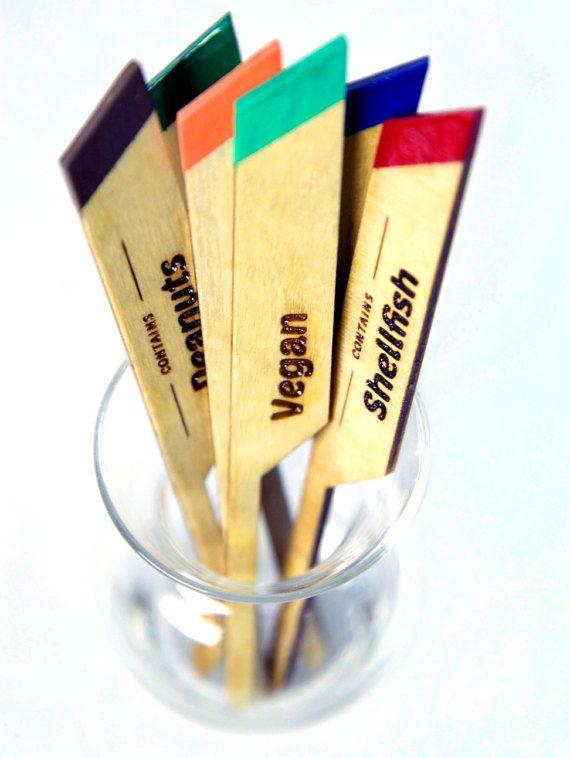 Laser engraved marking sticks