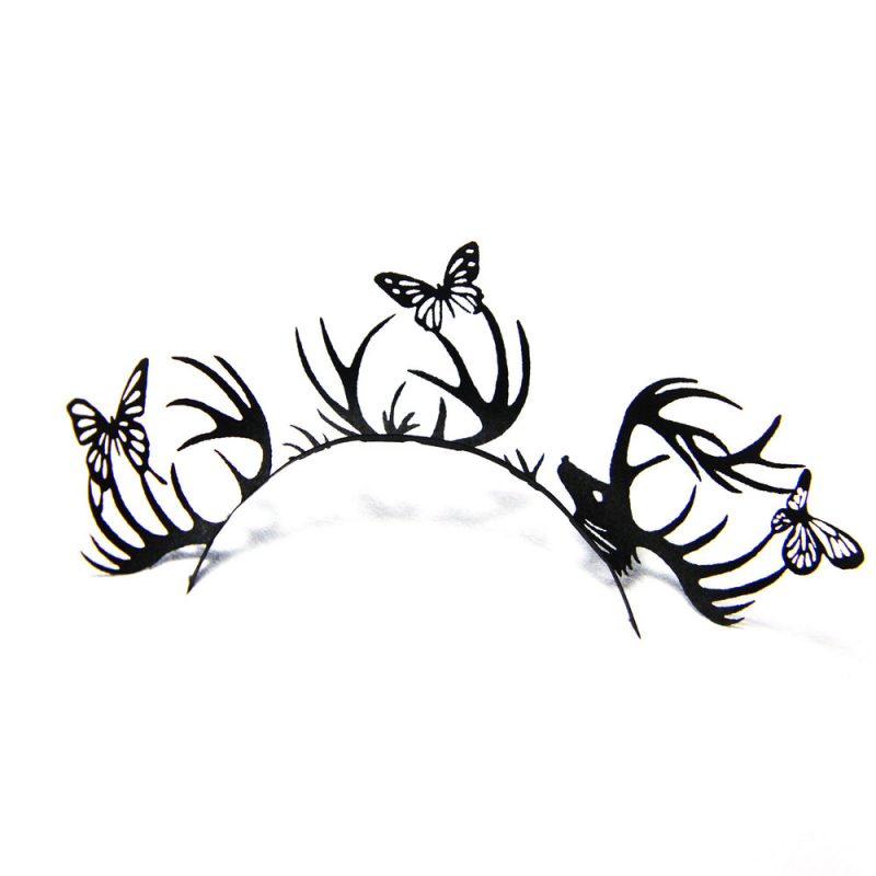 Deer and butterfly eyelashes