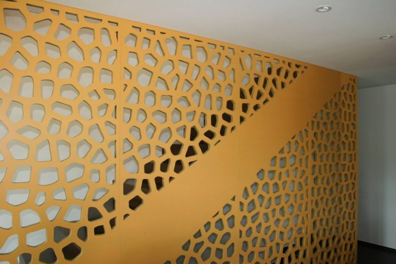 Bruag laser cut perforated stairs