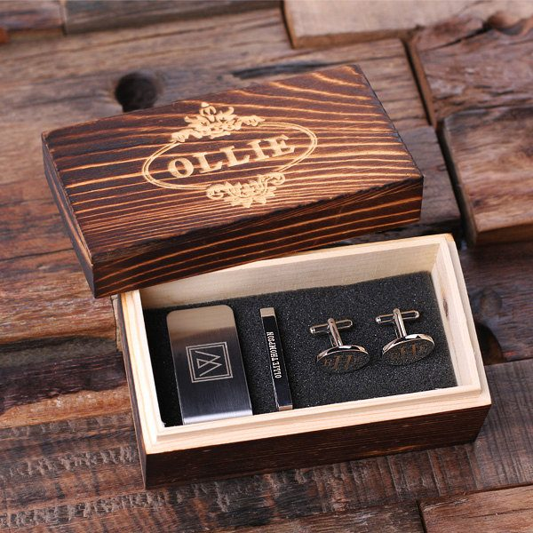 Laser engraved wooden box