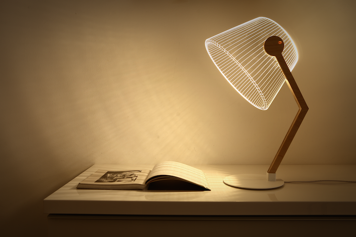 laser engraved lampshade
