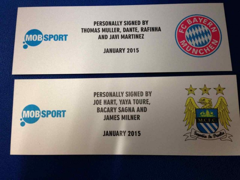 Sublimation printed plaque for Manchester City