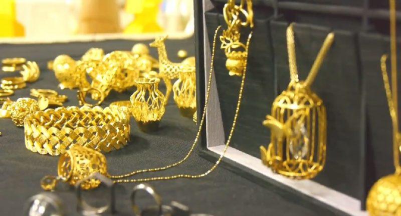 3D printed gold metal